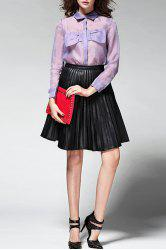 Pleated Pure Color Skirt -