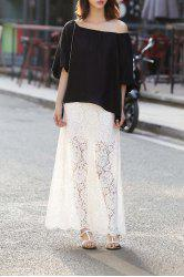 Cut Out Maxi Skirt -