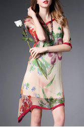 Cami Dress and Asymmetric Floral Dress -