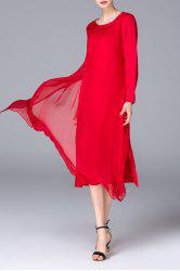 Layered Solid Color Dress -