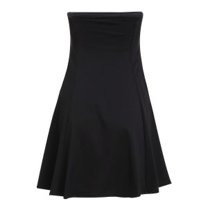 Chic Women's Strapless Pure Color Dress -