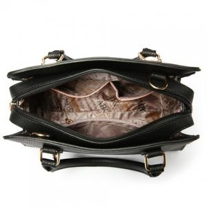 Fashionable Solid Color and Metal Design Tote Bag For Women -