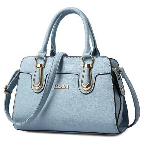 Fancy Fashionable Solid Color and Metal Design Tote Bag For Women -   Mobile