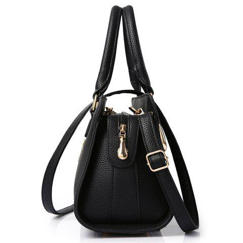 Fashion Fashionable Solid Color and Metal Design Tote Bag For Women -   Mobile