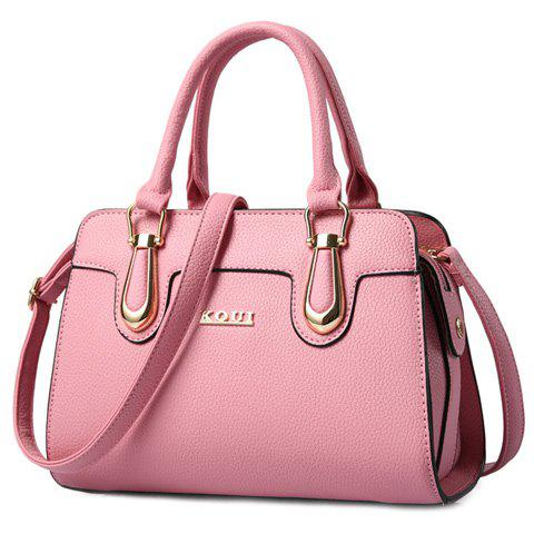 Sale Fashionable Solid Color and Metal Design Tote Bag For Women