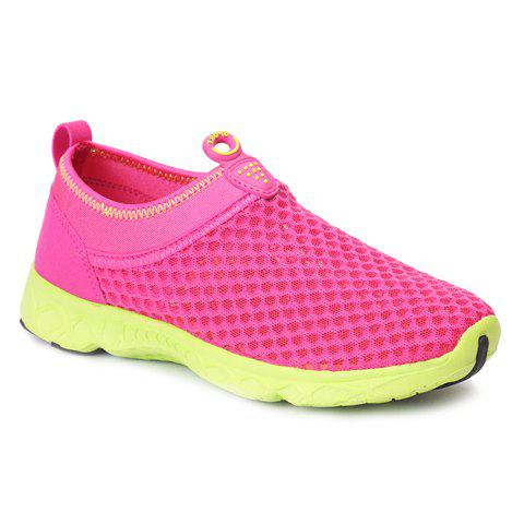 Sale Trendy Breathable and Solid Color Design Athletic Shoes For Women - 39 ROSE Mobile