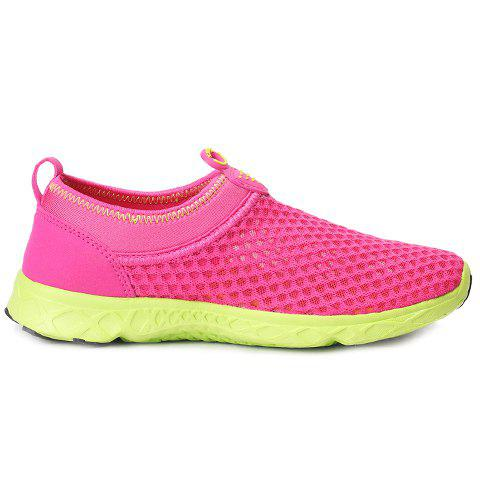 Discount Trendy Breathable and Solid Color Design Athletic Shoes For Women - 39 ROSE Mobile