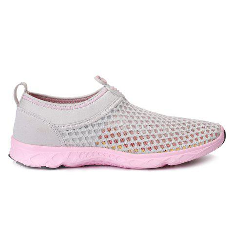 Discount Trendy Breathable and Solid Color Design Athletic Shoes For Women - 36 LIGHT GRAY Mobile