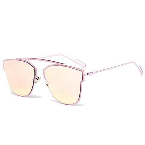 Cheap Chic Irregular Alloy Frame Pink Sunglasses For Women