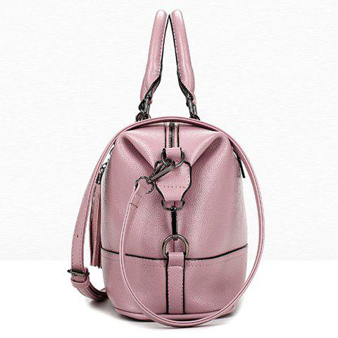 Fashion Stylish Tassels and Solid Color Design Tote Bag For Women - PINK  Mobile