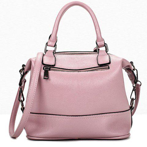 Discount Stylish Tassels and Solid Color Design Tote Bag For Women - PINK  Mobile