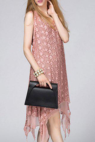 Hot See-Through Embroidered Midi Dress