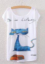 Kitten Print Cute T-Shirt -
