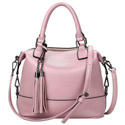 Stylish Tassels and Solid Color Design Tote Bag For Women