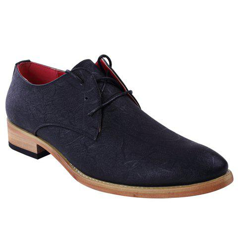 Buy Stylish Embossing and Lace-Up Design Formal Shoes For Men
