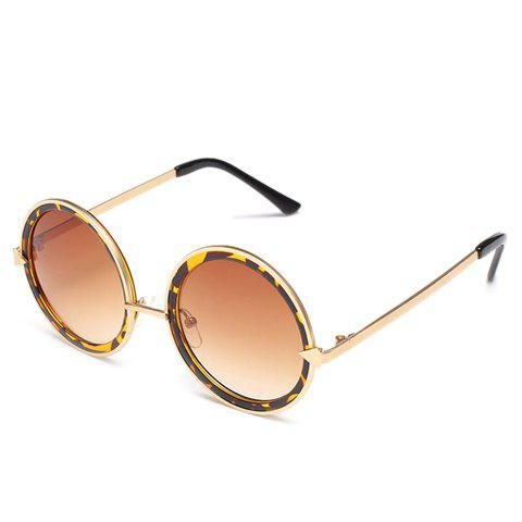 Shop Chic Arrow Shape Embellished Leopard Double Frame Sunglasses For Women