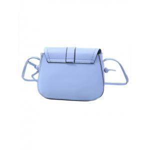 Sweet Solid Color and Push Lock Design Crossbody Bag For Women -