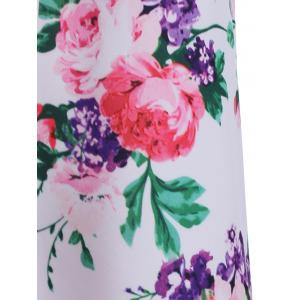 Chic Women's Floral Print Belted Sleeveless Dress -