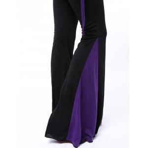 Chic Elastic Waist Hit Color Loose-Fitting Women's Pants