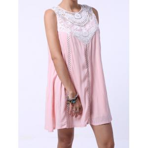 Refreshing Cut Out Sleeveless Peach Dress For Women - SHALLOW PINK S