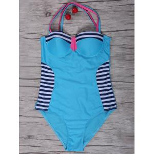 Sexy Stripe Criss-Cross Swimsuit For Women
