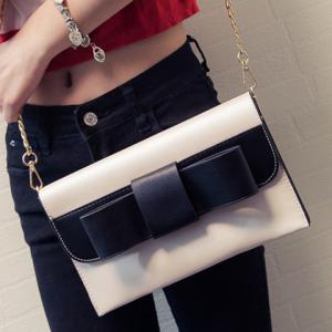 Sweet Chain and Bow Design Crossbody Bag For Women -