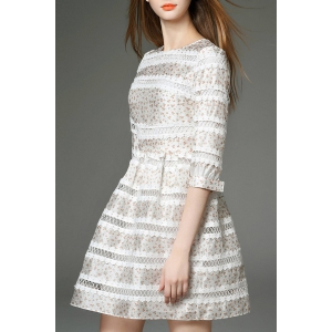 Lace Spliced High Waist Dress -