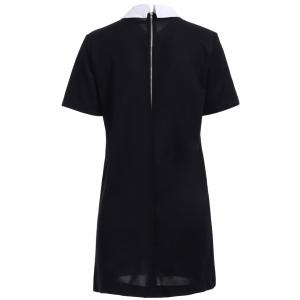 Chic Polo Collar Back Zipper Short Sleeve Dress For Women -