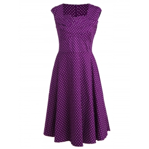 Polka Dot A Line Pin Up Dress