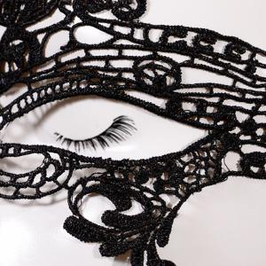 Fashionable Crown Shape Hollow Out Half-Face Lace Halloween Party Mask For Women -