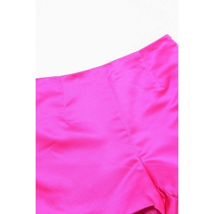 Pure Color Side Zippered Shorts -