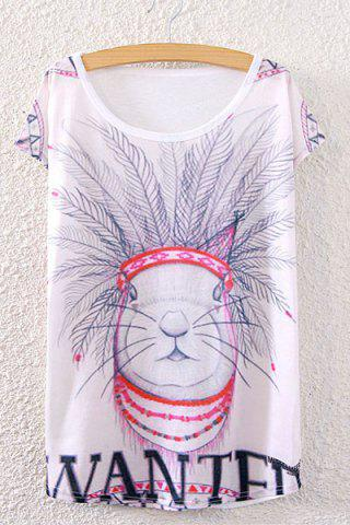 Sale Rabbit Print Cute T-Shirt