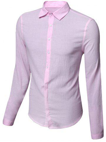 Affordable Casual Single Breasted Solid Color Shirt For Men