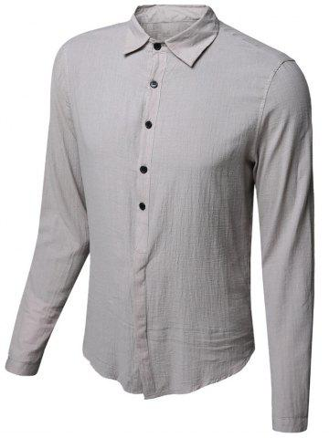 Shops Casual Single Breasted Solid Color Shirt For Men