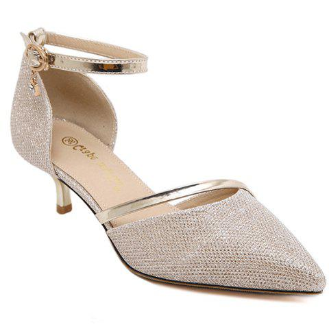 Affordable Trendy Sequined Cloth and Two-Piece Design Pumps For Women