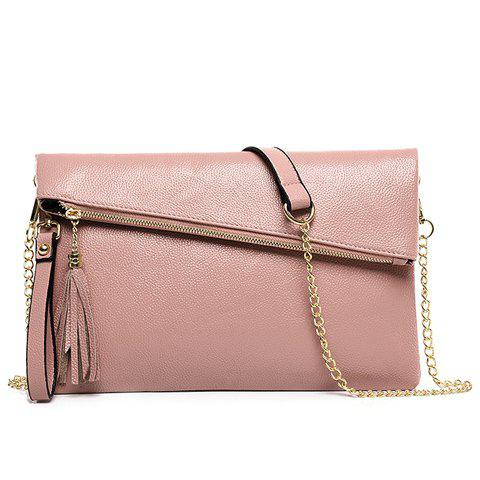 Shop Sweet Tassel and Solid Color Design Crossbody Bag For Women