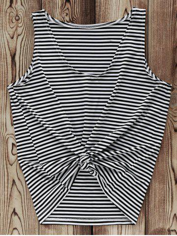 Discount Trendy V-Neck Striped Tank Top For Women