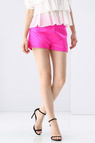 Shop Pure Color Side Zippered Shorts