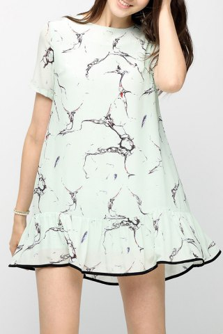 Buy Flounced Printed Mini Dress