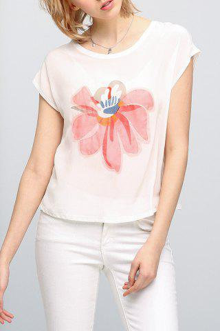 Outfits Floral Print Short Sleeve T-Shirt