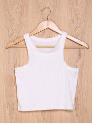 Chic Women's Pure Color Round Neck Tank Top -
