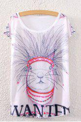 Rabbit Print Cute T-Shirt -