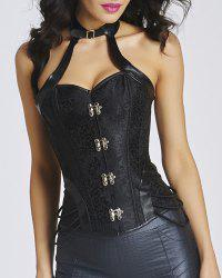 Trendy Keyhole Neck Stud Embellished Lace-Up Women's Bustier