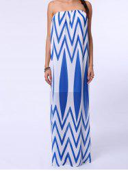 Zig Zag Tube Top Maxi Dress