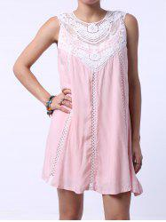 Refreshing Cut Out Sleeveless Peach Dress For Women