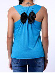Sweet Back Bowknot Design Letter Printed Tank Top For Women