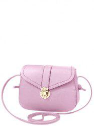 Sweet Solid Color and Push Lock Design Crossbody Bag For Women