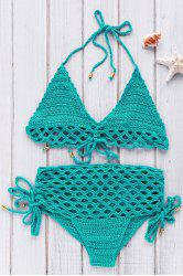 Stylish High-Rise Crochet Women's Bikini Set