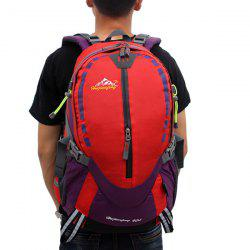 Large Capacity Waterproof Suspended Back Frame Color Block Outdoor Climbing Bag -