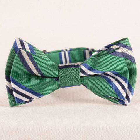 Outfit Stylish Stripe Pattern Green Double-Deck Bow Tie For Boys